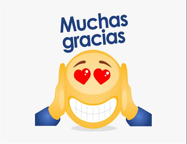 Tarjeta de agradecimiento con emoji