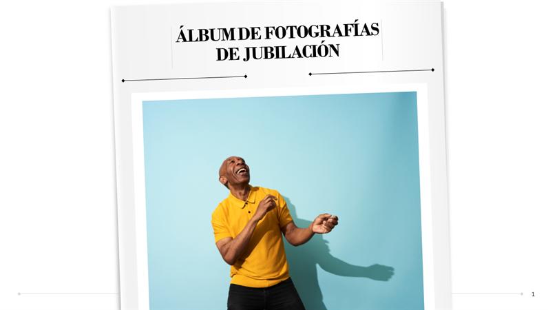 Álbum de fotografías de jubilación