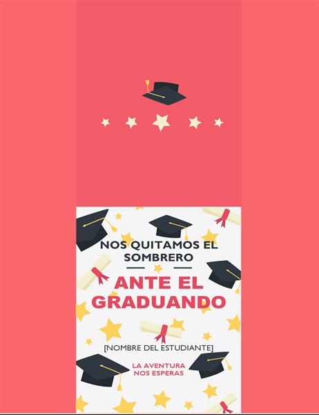 Tarjeta de graduación «sombreros fuera»