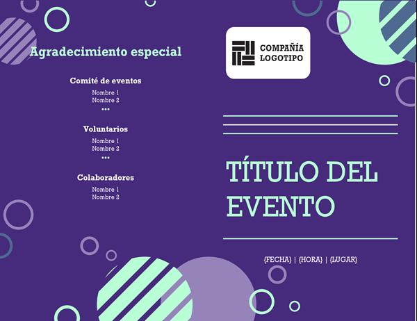Programa de eventos de la empresa