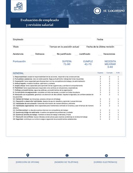 Evaluación de empleados y revisión de salarios de pequeñas empresas