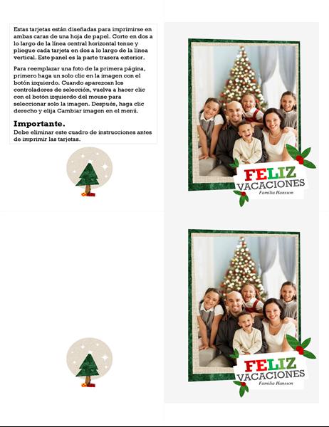 Una tarjeta de Navidad de collage fotográfico