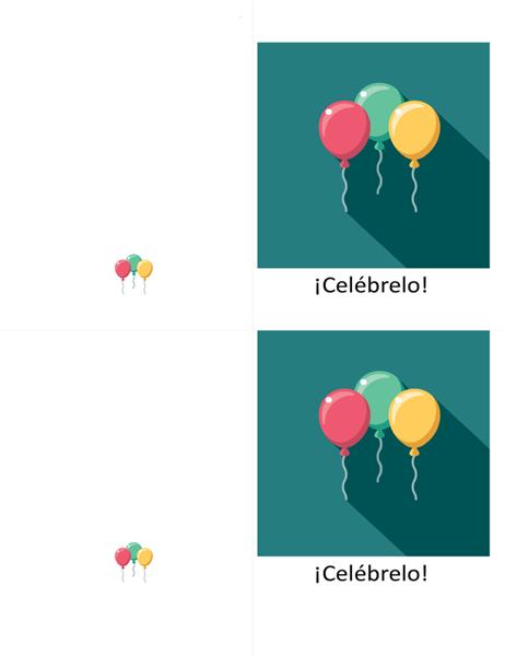Tarjeta de celebración con motivo de globo