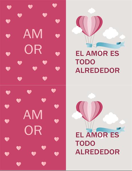 Tarjeta de San Valentín: el amor está en todas partes