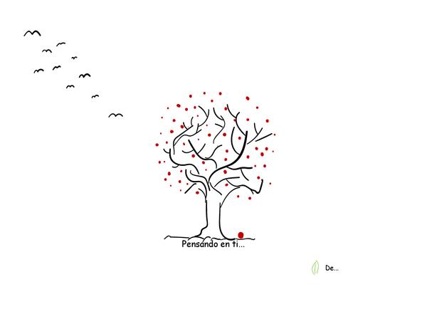 Tarjeta de pésame con árbol