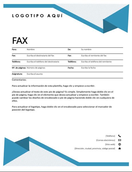 Portada de fax con rayas diplomáticas