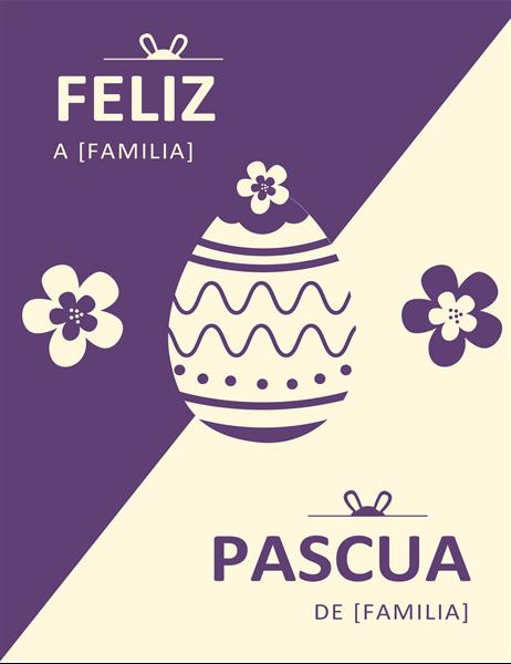 Felicitación de Pascua púrpura