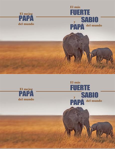 Tarjeta de Día del Padre de elefante sabio