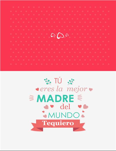 Tarjeta del Día de la Madre Eres la mejor