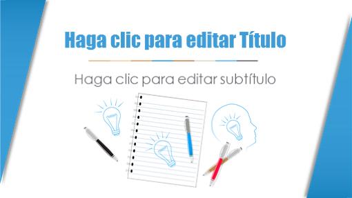 Presentación académica (diseño de lápices y cuadernos)