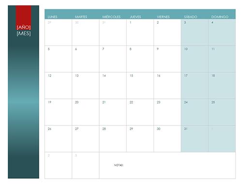 calendario de cualquier año