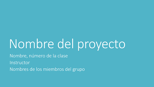 Presentación de proyecto en grupo (temas Metropolitano, pantalla panorámica)