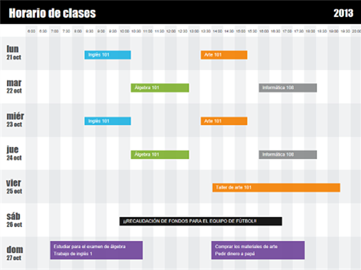 Plan de clase (por hora)
