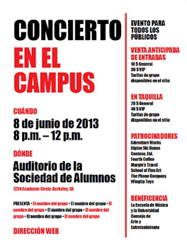 Folleto de estudiantes (rojo y negro)