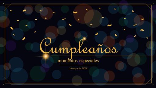 Celebración de cumpleaños de vida