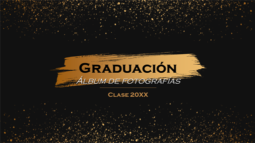 Álbum de fotografías de graduación oscuro