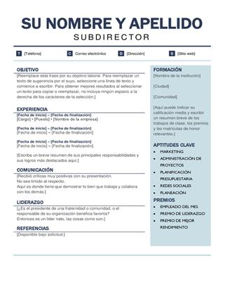 Currículum vítae moderno y organizado
