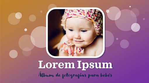 Álbum de fotos del primer año del bebé