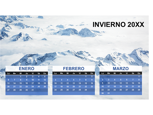 Calendario trimestral de las estaciones