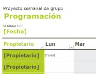 Programación de grupo