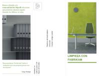 Folleto de negocios tríptico (diseño en verde y negro)