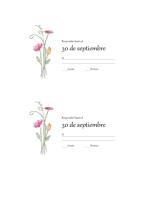 Tarjetas de RSVP (diseño de acuarela)