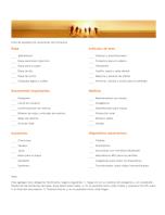 Lista de equipaje