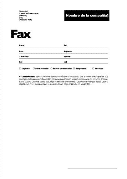 Portada de fax (Tema profesional)