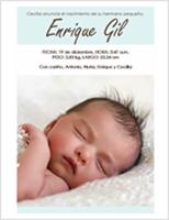 Anuncio de recién nacido