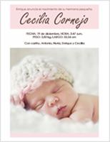 Anuncio de recién nacida