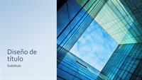 Presentación de marketing de cubo de cristal (pantalla panorámica)