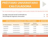 Calculadora para el préstamo universitario