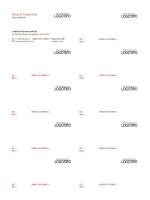 Tarjetas de presentación, diseño horizontal con logotipo y texto alineado a la izquierda