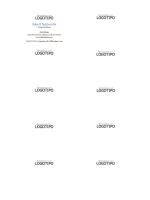 Tarjetas de presentación, diseño horizontal con logotipo e iniciales de nombre en mayúsculas