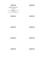 Tarjetas de presentación, diseño horizontal con logotipo y nombre en mayúsculas