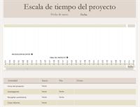 Escala de tiempo de proyectos
