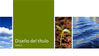 Paneles de fotografías sobre ecología