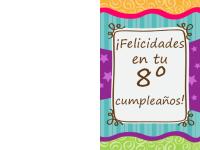 Tarjeta de cumpleaños: barras y estrellas (niños)