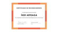 Certificado de aprovechamiento (azul)