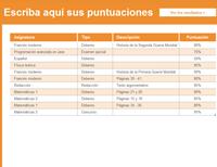 Seguidor de nota media y calificaciones del estudiante