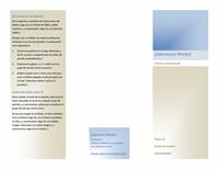 Folleto (8 1/2 x 11, horizontal, plegado en dos)