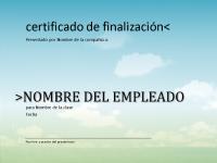 Certificado de finalización del curso