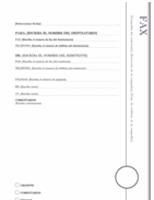 Portada de fax (diseño Mirador)
