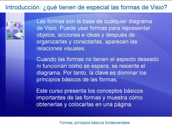 Presentación de formación: Visio 2007: Formas I: principios básicos imprescindibles