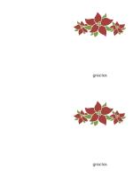 Tarjeta de agradecimiento (diseño de poinsettia)