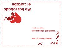Tarjeta de San Valentín (diseño de corazón)
