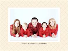 Álbum de fotografías de la reunión familiar