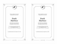 Anuncio de gaduación (diseño formal en blanco y negro)