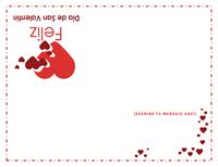 Tarjeta de San Valentín (interior en blanco)