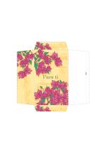 Sobre de dinero (diseño floral rosa)